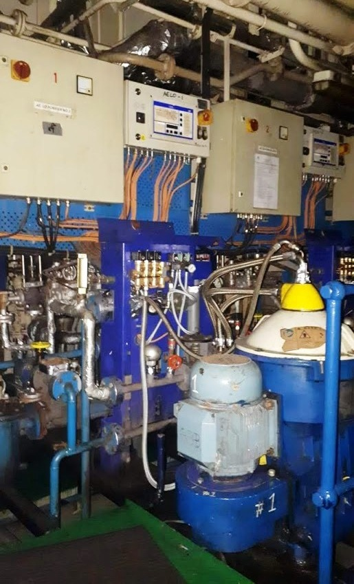(3) Alfa-Laval S-816 fuel/lube oil purifiers, 316SS.