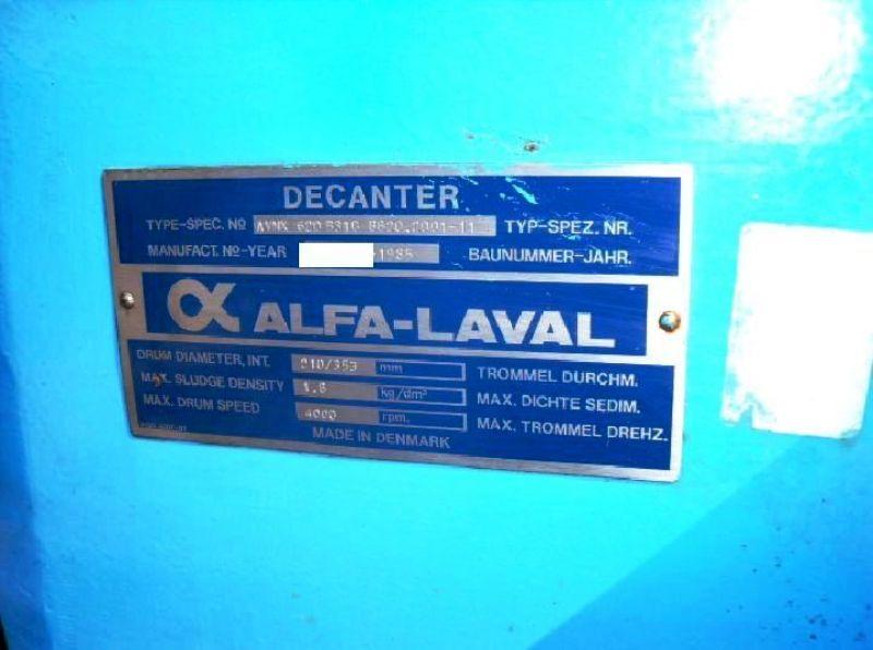 Alfa-Laval AVNX 620B-31G decanter centrifuge, 316SS.