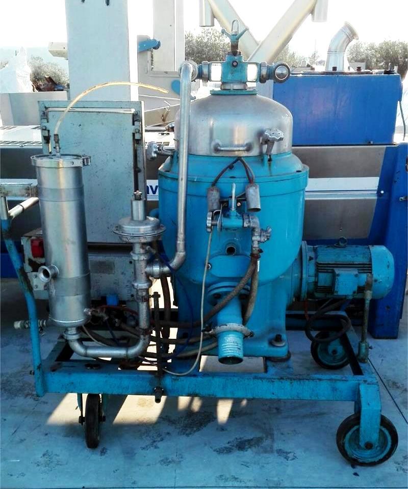 (2) Alfa-Laval BRPX 207-34S clarifier centrifuges, 316SS.