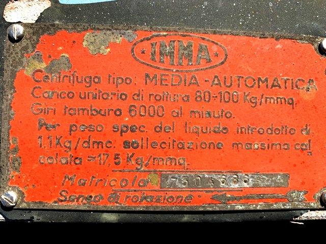 (2) IMMA Media self-cleaning wine clarifier, 316SS.