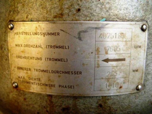 Alfa-Laval FOPX 605 TGD-24 oil purifier, 316SS.