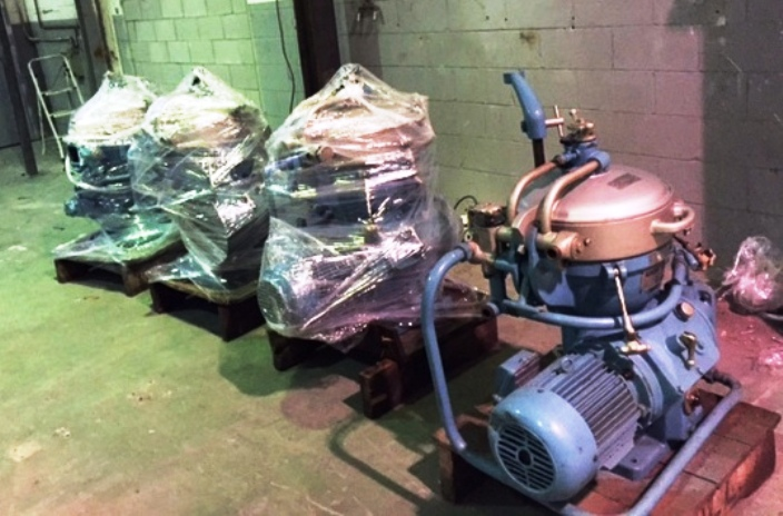 (2) Alfa-Laval MAB 205S-24 oil purifiers, SS.