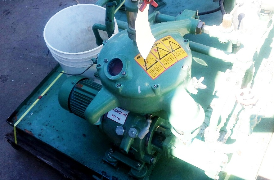 Alfa-Laval MAB 103B-24-60 oil purifier skid, SS bowl.