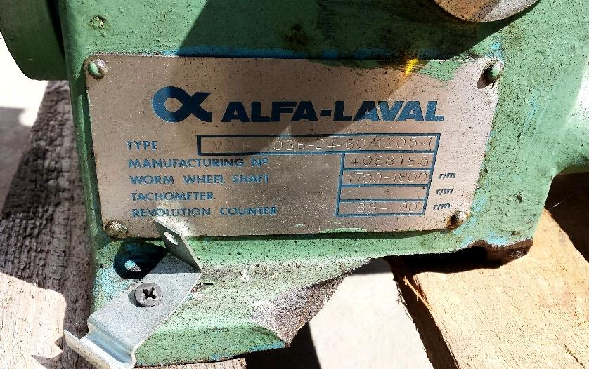 Alfa-Laval MAB 103B-24-60 oil purifier, SS bowl.