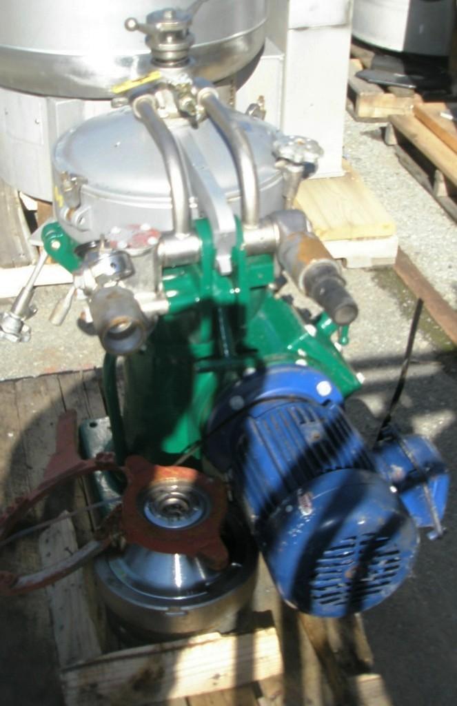 Alfa-Laval MAB 204S-24-60 oil purifier, SS.