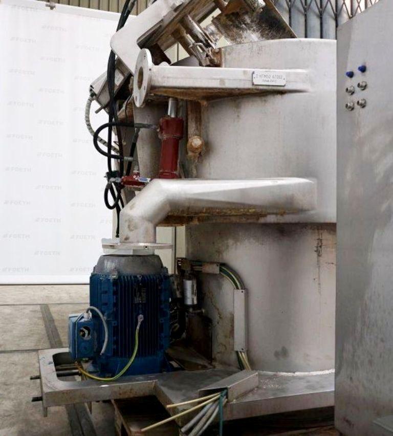 (2) GFT V80-U perforate basket centrifuges, 904L SS.