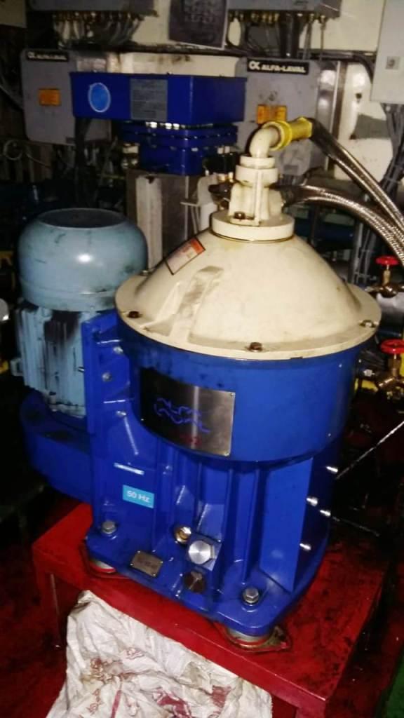 Alfa-Laval P-626 lube oil purifier, 316SS.