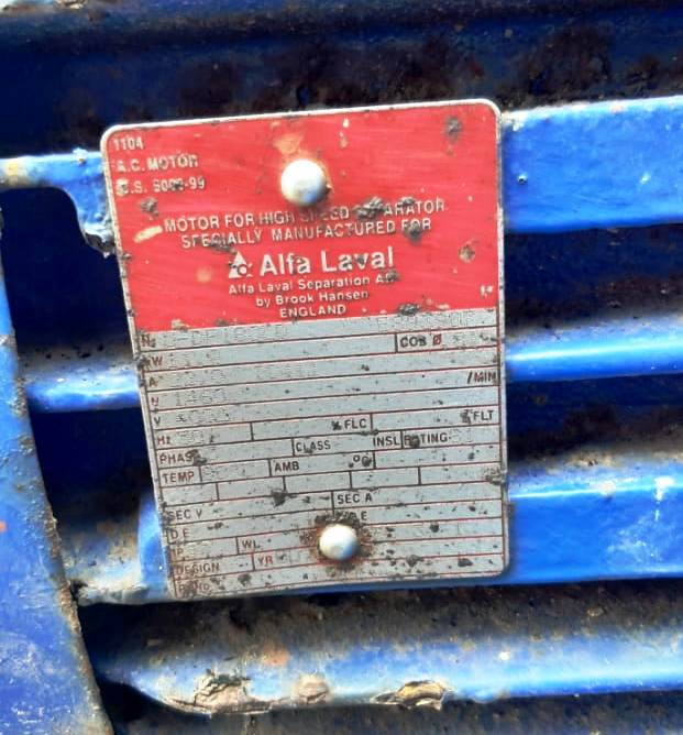 Alfa-Laval CHPX 407 SGP-34 GRT clarifier centrifuge, 316SS.