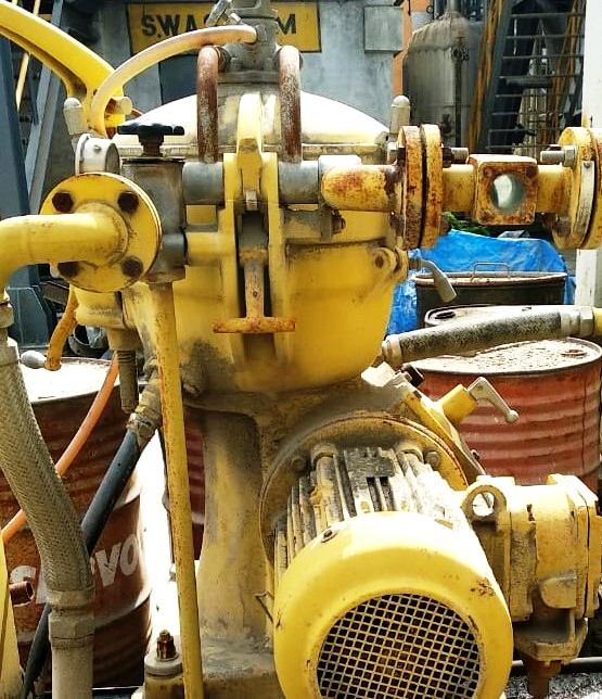 Alfa-Laval MAB 206S-24 oil purifier, SS.