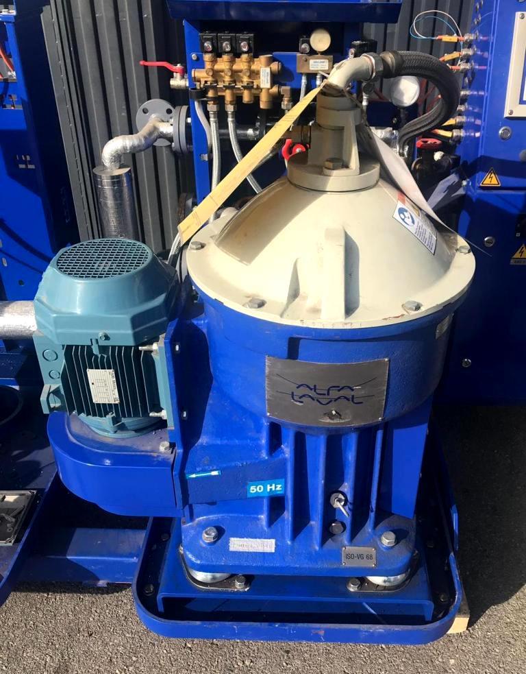 Alfa-Laval P-625 lube oil purifier, 316SS.