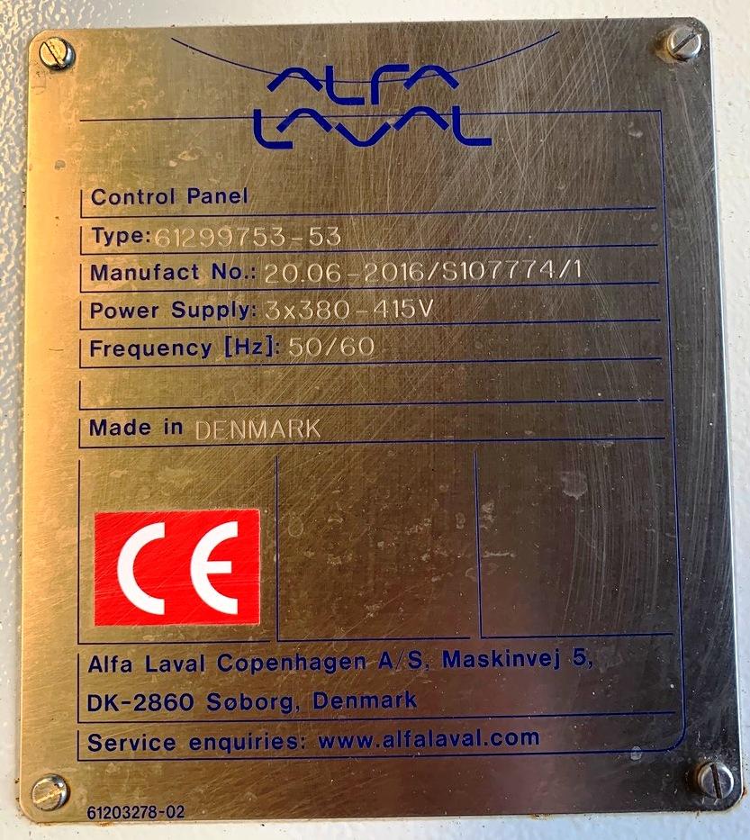 Alfa-Laval ALDEC G2 45 decanter centrifuge, 316SS.