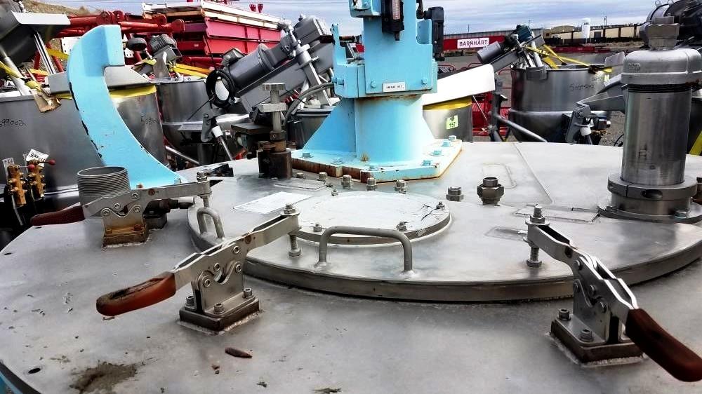 Sharples 48 x 30 perforate basket centrifuge, 316SS.