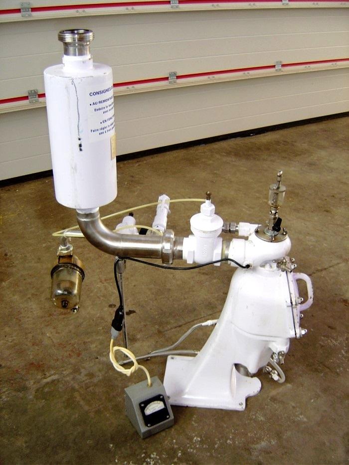 (2) Alfa-Laval T-1P pressuretite lab Super centrifuges, 316SS.