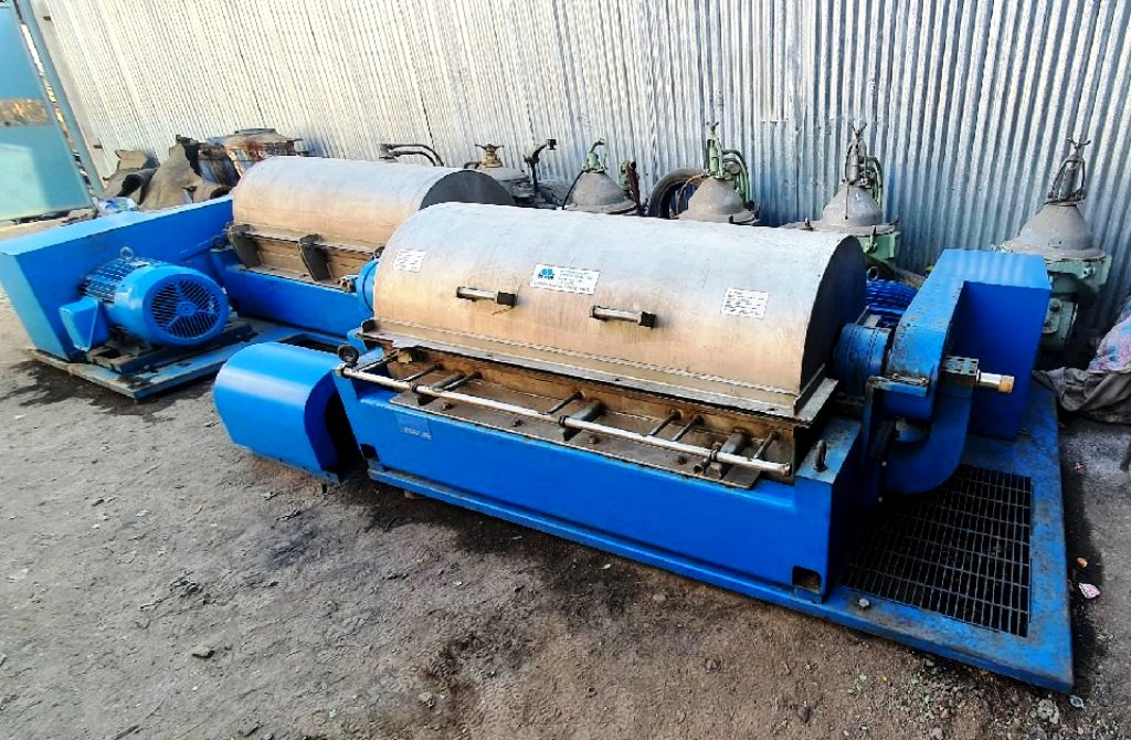 (3) Hutchison-Hayes 5500 decanter centrifuges, 316SS.