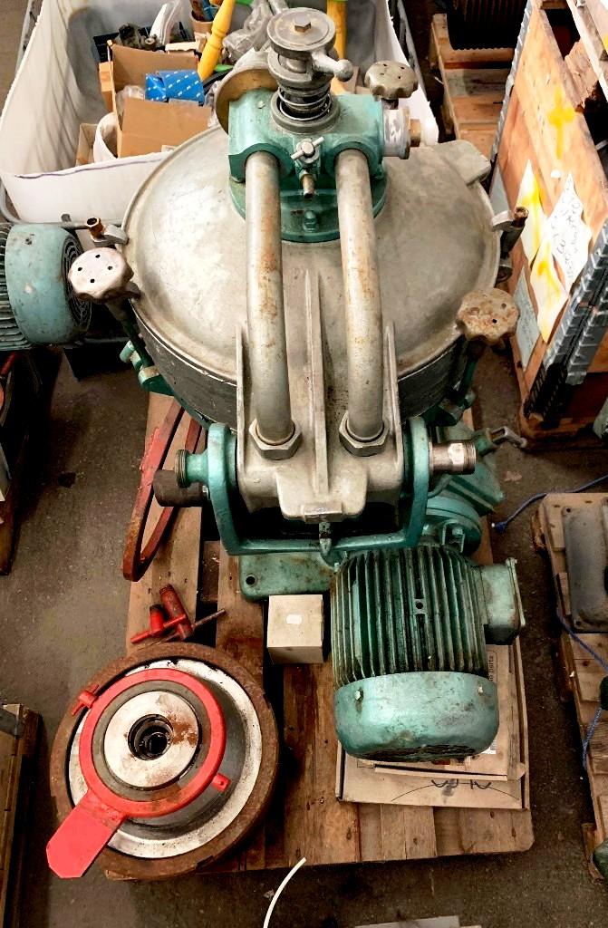 (2) Alfa-Laval MAB 207S-24-60 oil purifiers, SS.