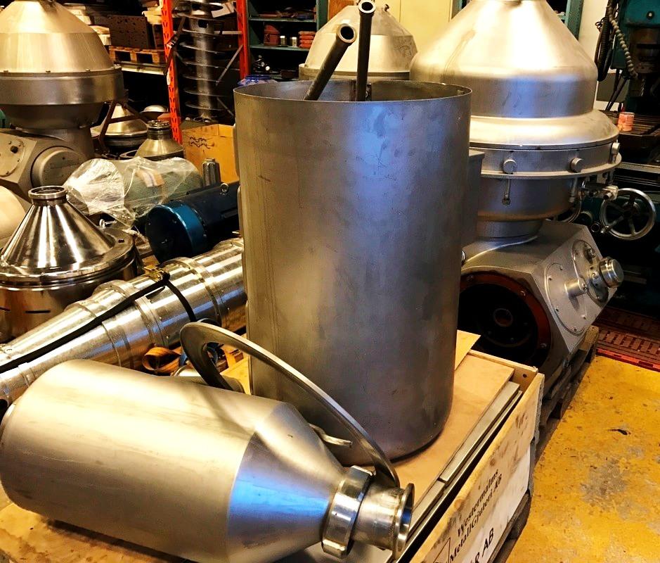 Alfa-Laval MRPX 514 HGV-74C cold milk separator, 316SS.
