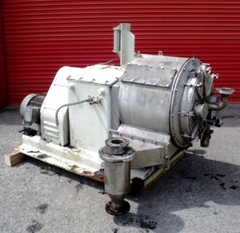 (3) Krauss-Maffei SZ 50 2-stage pusher centrifuges, 316SS.