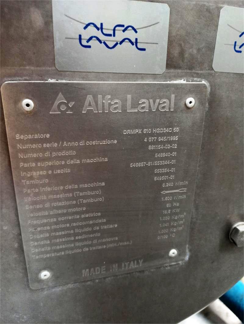 Alfa-Laval DMRPX 610 HGV-34C-50 milk clarifier, 316SS.