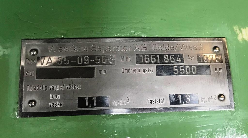 (4) Westfalia VA 35-09-566 single-stage extractors, 316SS.