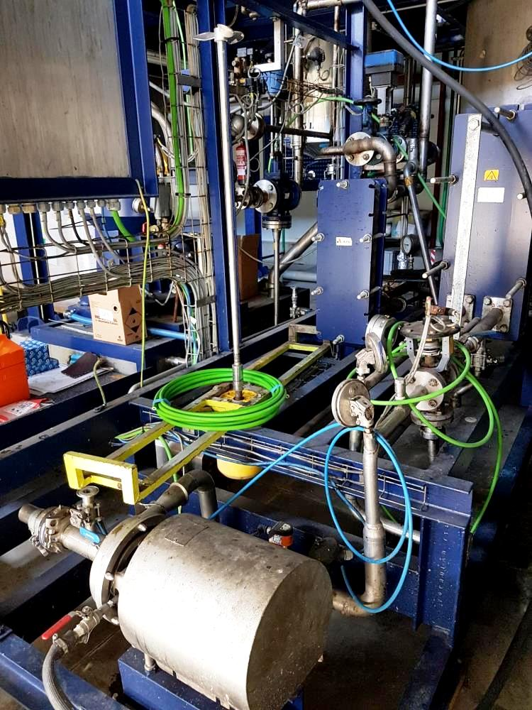 Alfa-Laval S-841 fuel/lube oil purifier skid, 316SS.