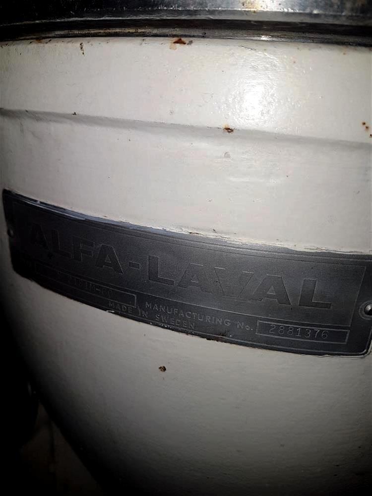 Alfa-Laval 2181T hermetic separator, 316SS.