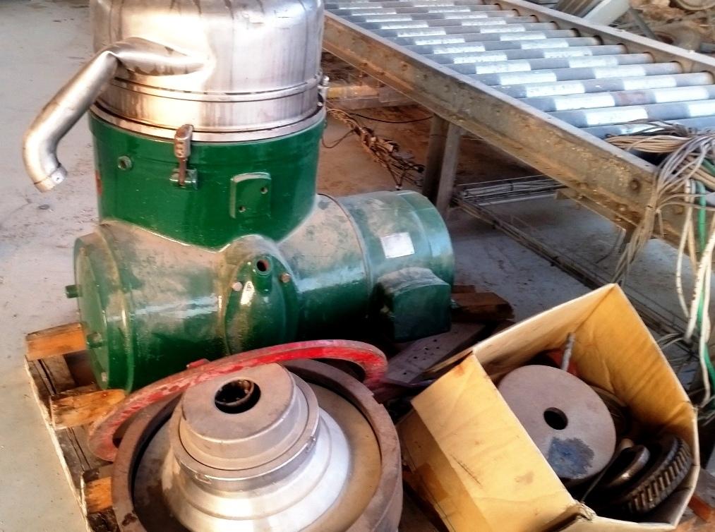 (5) Westfalia RTA 45-01-074 solid bowl separators, 316SS.