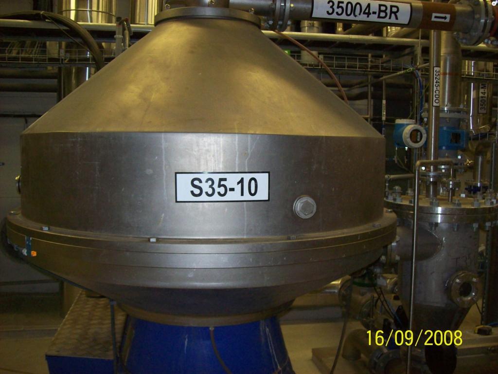 (4) Alfa-Laval FEQX 520S-31CGH nozzle centrifuges, 316SS.