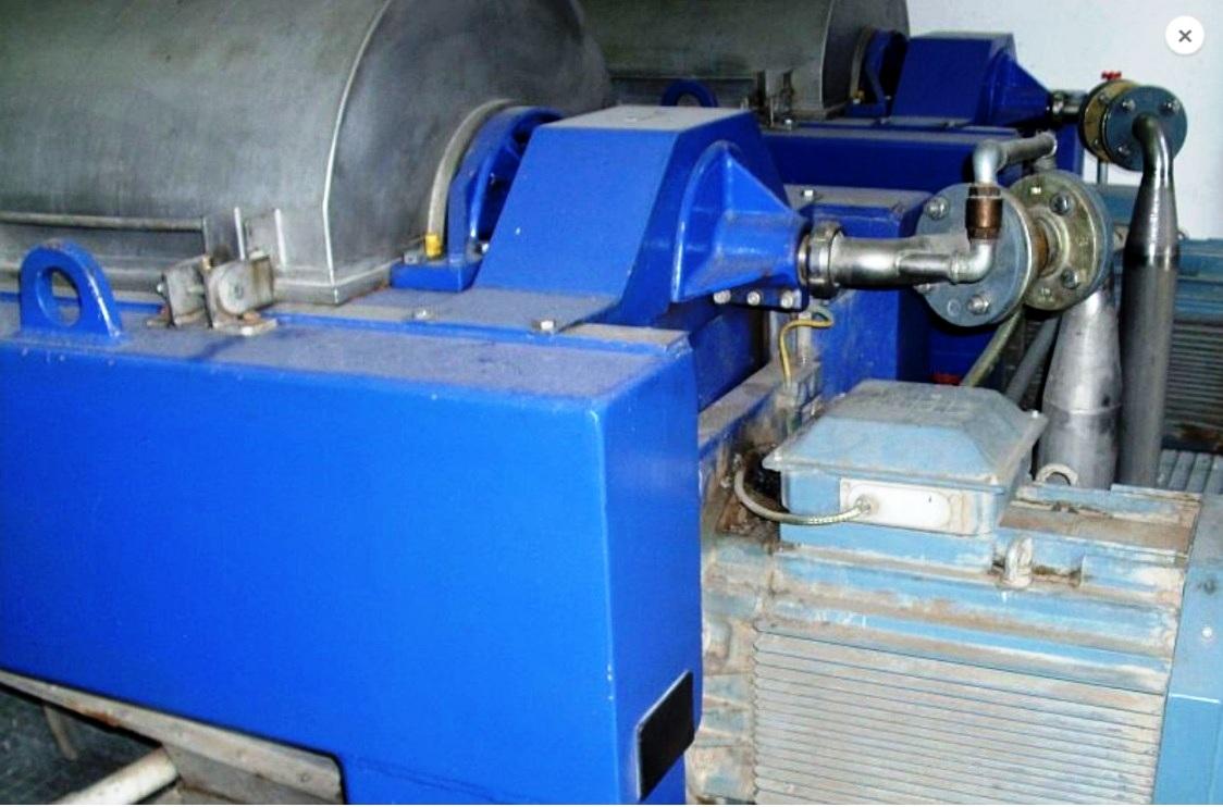 (2) Alfa-Laval AVNX 4545 decanter centrifuges, 316SS.