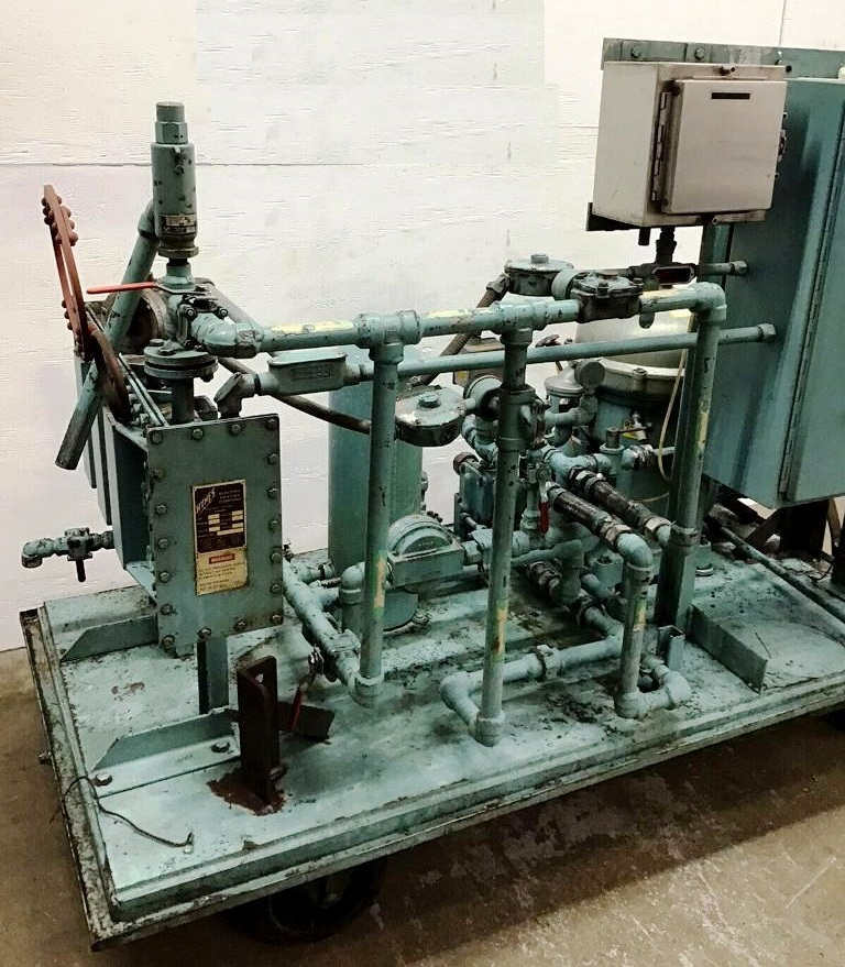 Alfa-Laval MAB 104B-24-60 oil purifier skid, SS.
