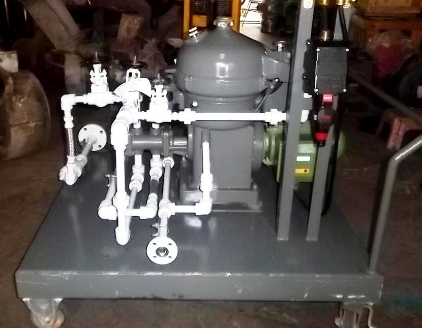 Alfa-Laval MAB 104B-14/24 oil purifier skid, SS.