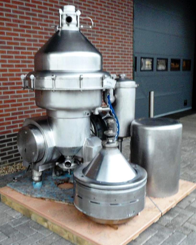 Alfa-Laval MRPX 314 HGV-74C hot milk separator, 316SS.