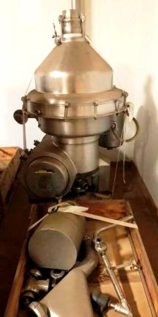 Alfa-Laval MRPX 314 HGV-74 warm milk separator, 316SS.