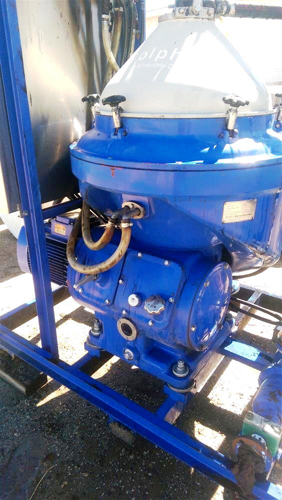 Alfa-Laval WHPX 513 TGD-20 oil purifier skid, SS.