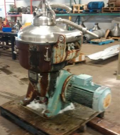 Alfa-Laval SRG 214-15HH-60 hermetic separator, 316SS.