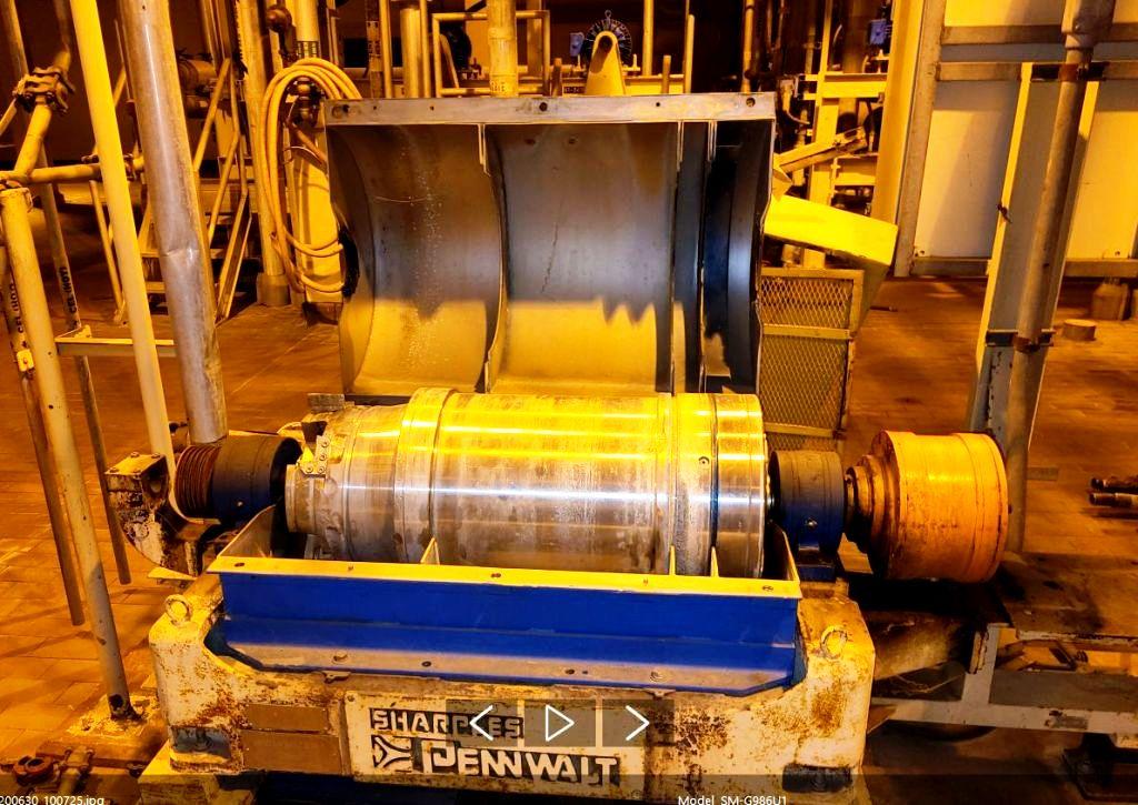 (4) Sharples P3000 decanter centrifuges, 316SS.
