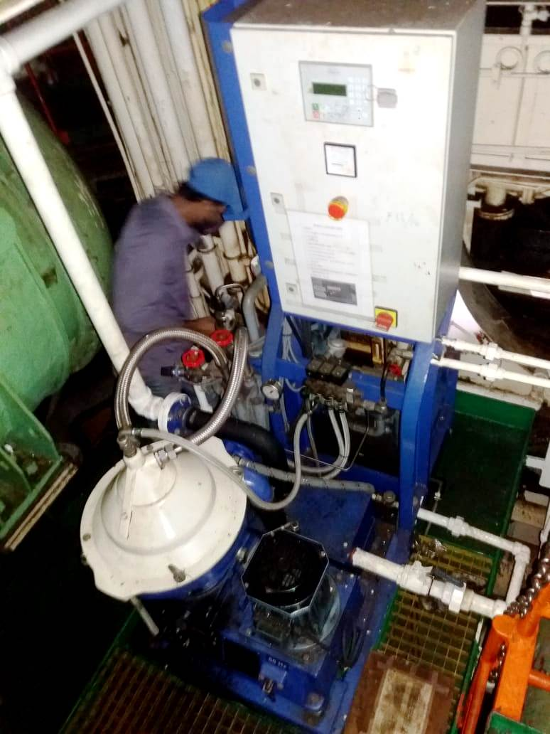 Alfa-Laval P-615 fuel/lube oil purifier, 316SS.