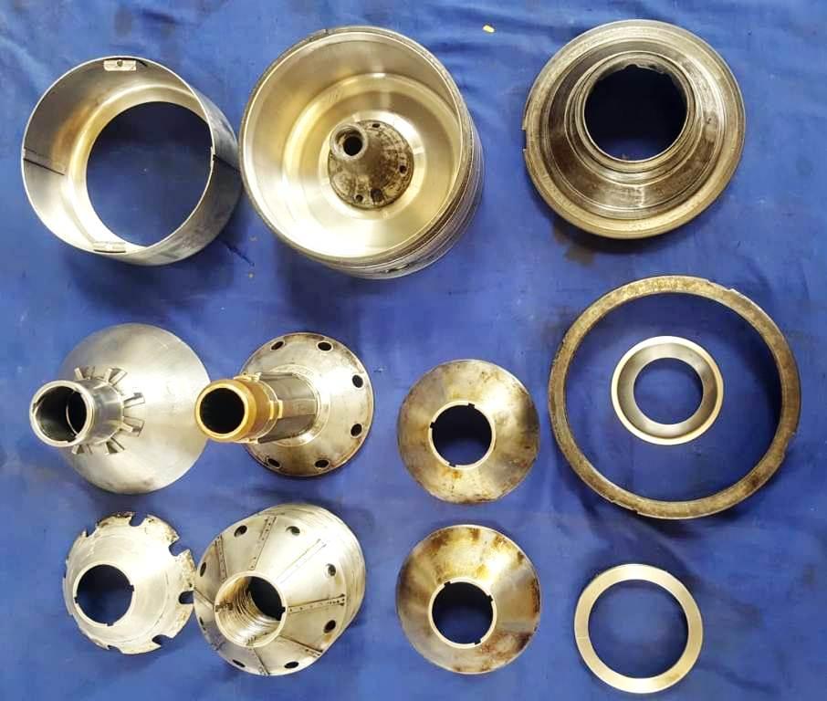 (2) Westfalia OTA 7-00-066 oil purifiers, 316SS.