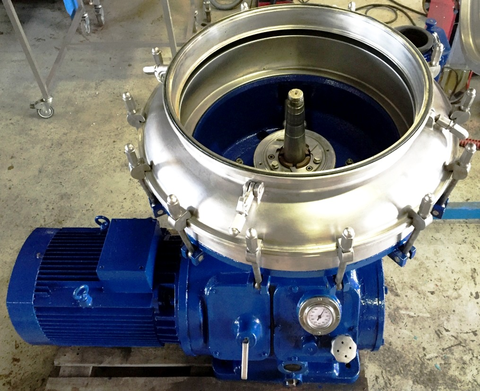 (3) Alfa-Laval BRPX 313 XGD-74 oil concentrators, 316SS.