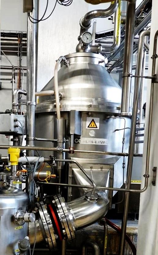Alfa-Laval MRKX 417 SGV-34C quark clarifier, 316SS.