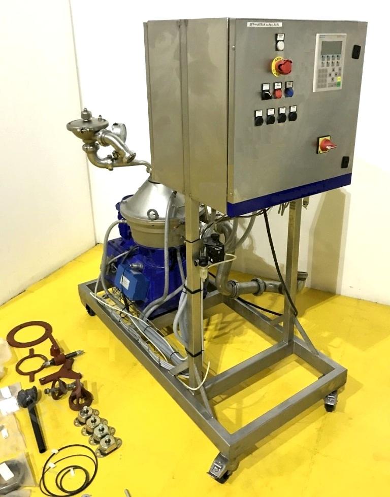 Alfa-Laval LAPX 404 SGP-31G/TGP-61G purifier/concentrator/clarifier skid, 316SS.