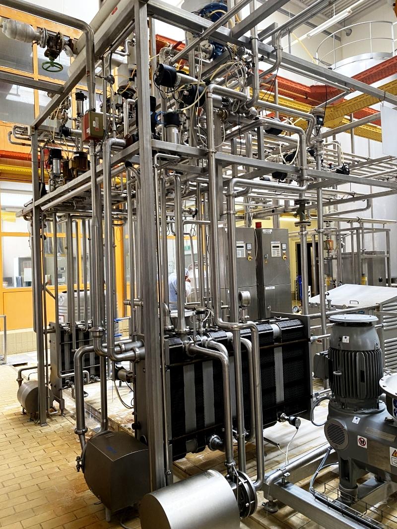 Alfa-Laval 12-15,000 LPH milk pasteurization and standardization line.