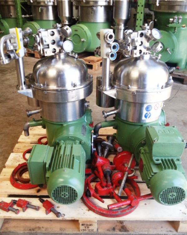 (2) Westfalia SA 7-01-076 separator, 316SS.