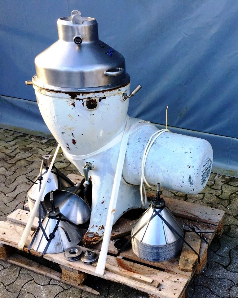 Alfa-Laval 2181M milk separator, 316 SS.
