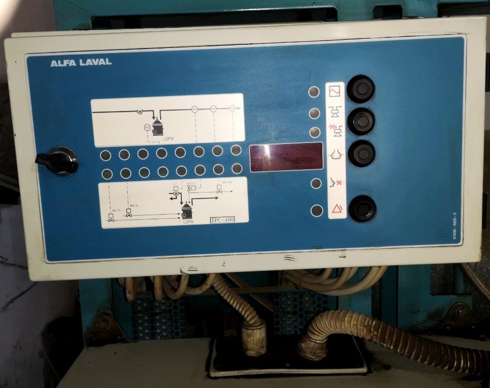 Alfa-Laval LOPX 705 SFD-30 lube oil clarifier skid, SS.